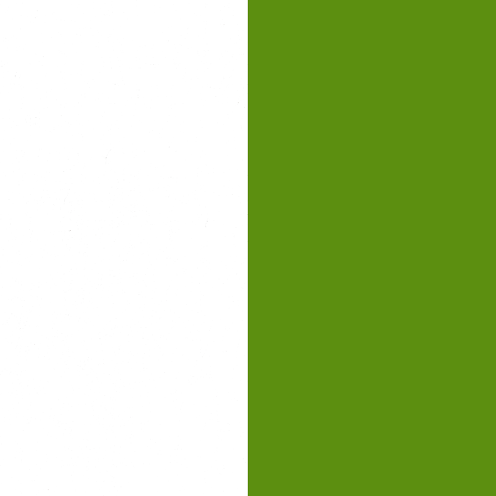 Pure White and Green