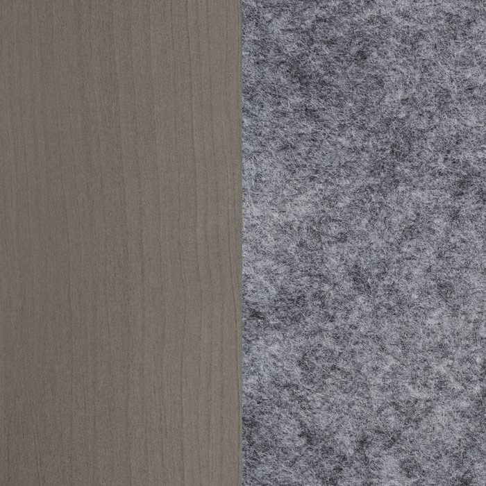 Gray Maple and Pure White with Gray