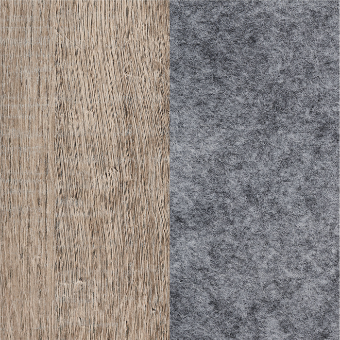 Weathered Oak and Soft Gray with Gray