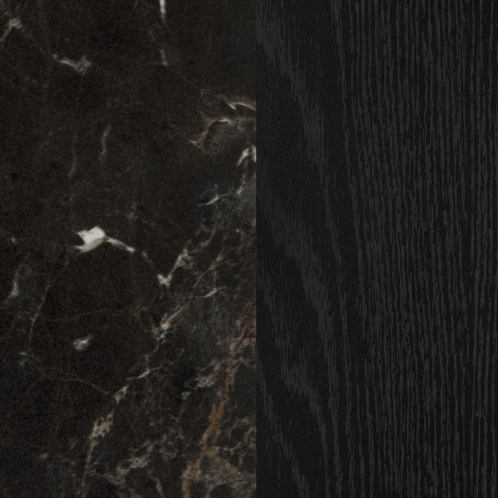 Chêne noir et noir marbre