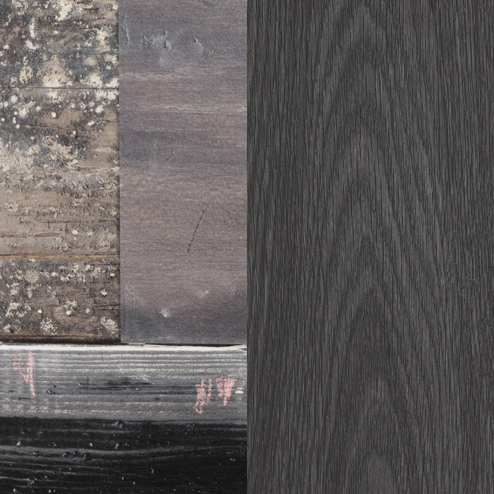 Gray Oak and Factory Planks Effect