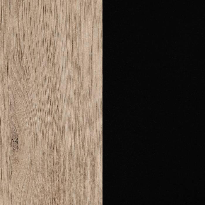 Rustic Oak and Matte Black