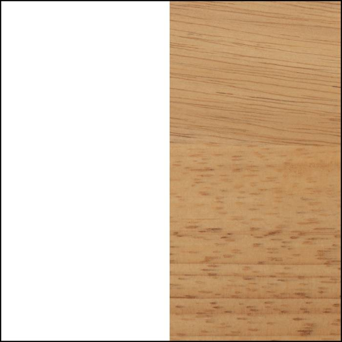 Pure White and Exotic Light Wood