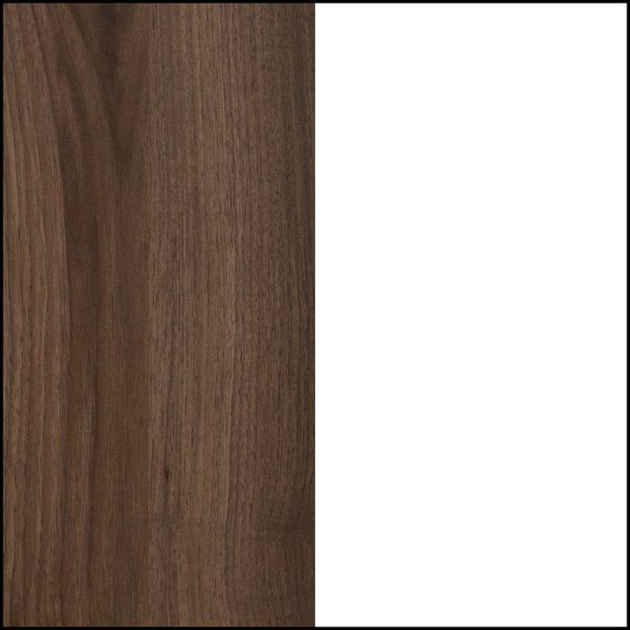 Natural Walnut and Pure White