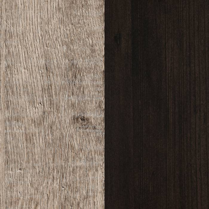 Weathered Oak and Rubbed Black