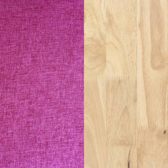 Natural Wood and Pink