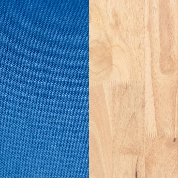 Natural Wood and Blue