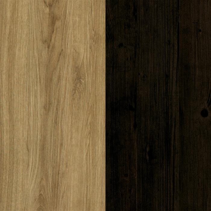 Ébène et chêne rustique