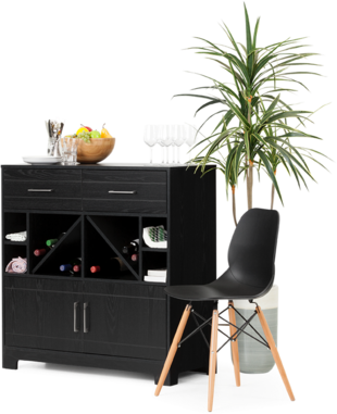 dining room kitchen - Set De Chambre King Noir