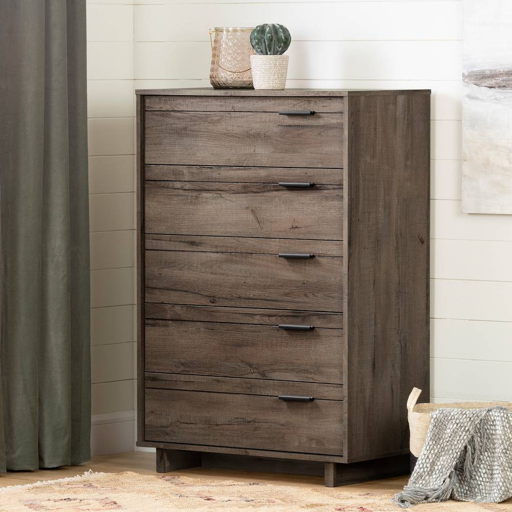 South Shore Fynn 5 Drawer Chest Dresser South Shore Furniture United States