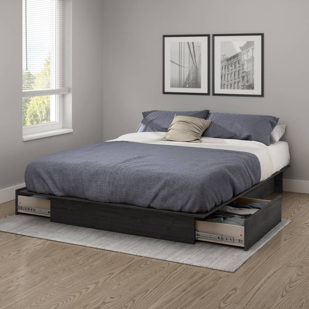South Shore Step One Platform Bed With Drawers South Shore