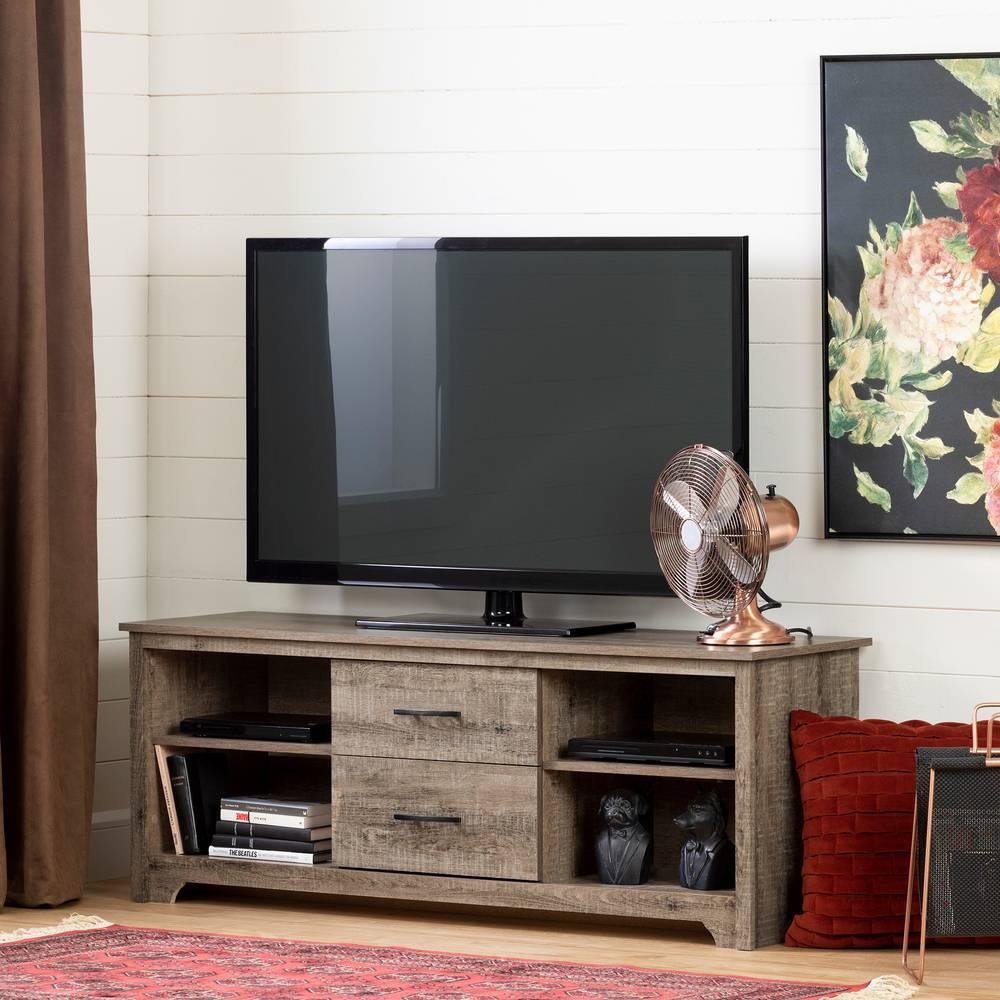 """Panneau Mural Derriere Tv fusion meuble tv avec tiroirs pour télé jusqu'à 60"""" south"""