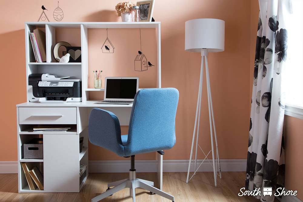 Annexe bureau de travail pour ordinateur south shore meubles