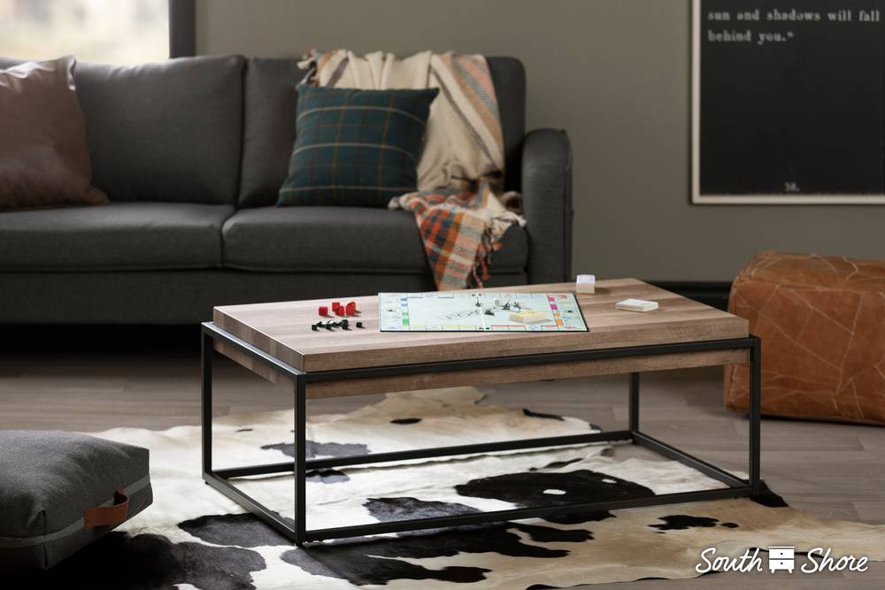 Superbe South Shore Mezzy Modern Industrial Coffee Table | South Shore Furniture  United States