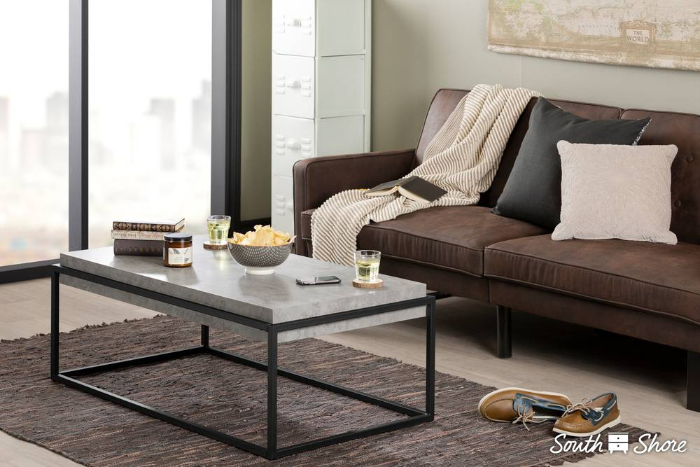 Attrayant South Shore Mezzy Modern Industrial Coffee Table | South Shore Furniture  United States