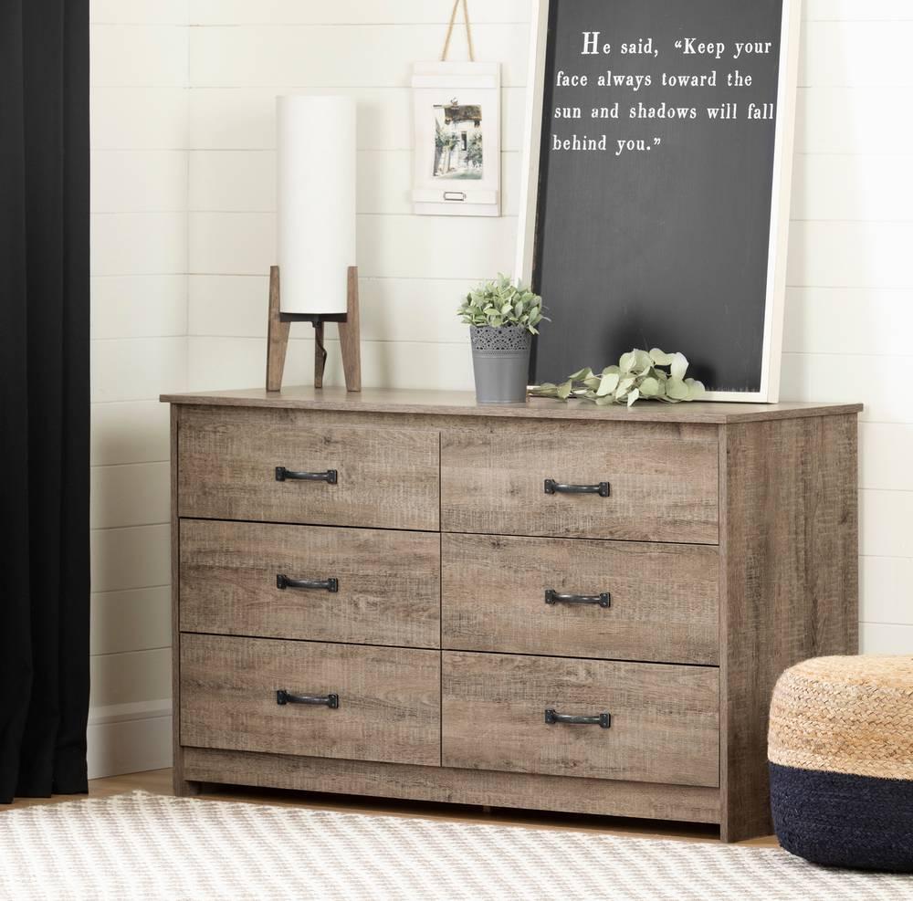 South Shore Tassio 6 Drawer Double Dresser Storage Unit South Shore Furniture Canada