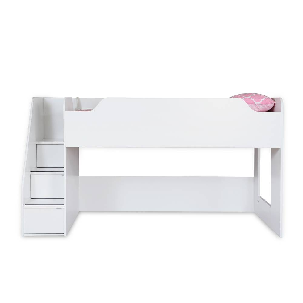 Table A Langer Escalier south shore mobby loft bed with stairs | south shore