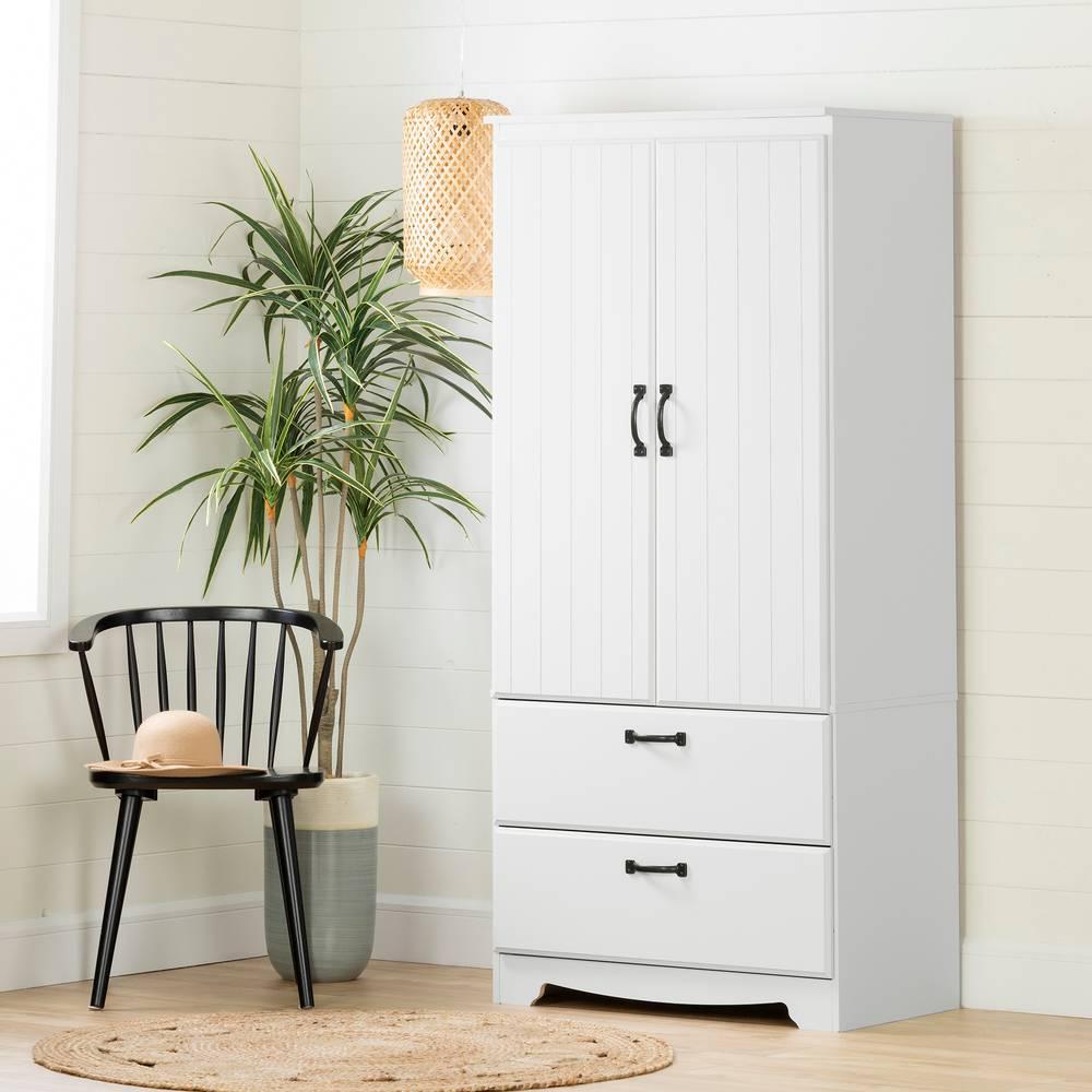 Armoire De Chambre Avec Penderie farnel armoire penderie avec portes et tiroirs south shore