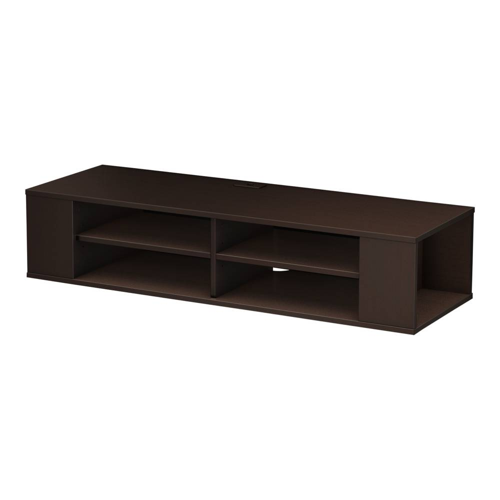 Gray Maple South Shore Furniture City Life 48-Feet  Wide Wall Mounted Media Console