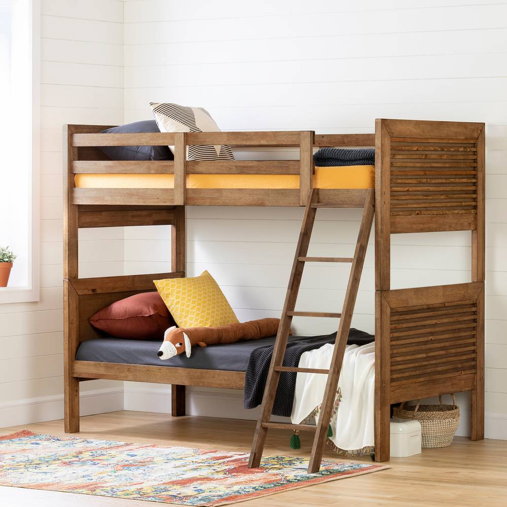 online store 50596 1d3b4 South Shore Lubello Solid Wood Bunk Beds | South Shore ...