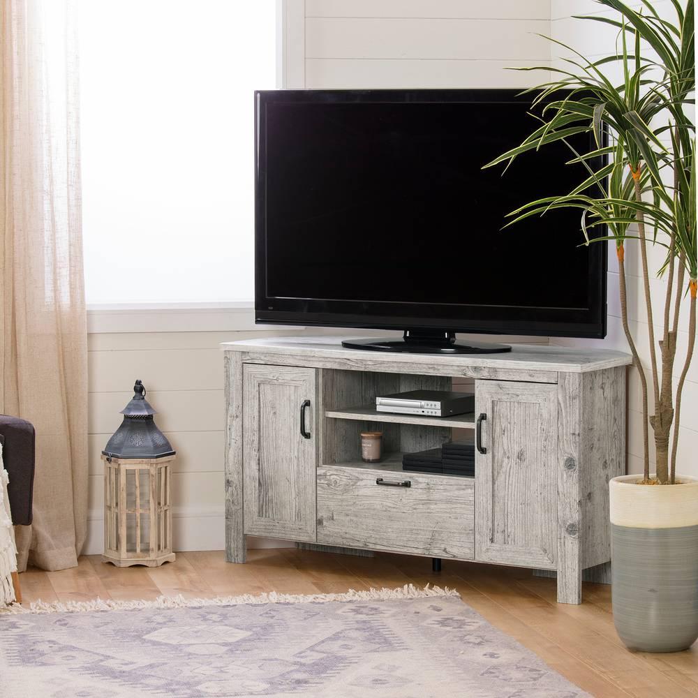 Meuble Tv Pour Coin lionel meuble tv en coin pour tv jusqu'à 48' south shore