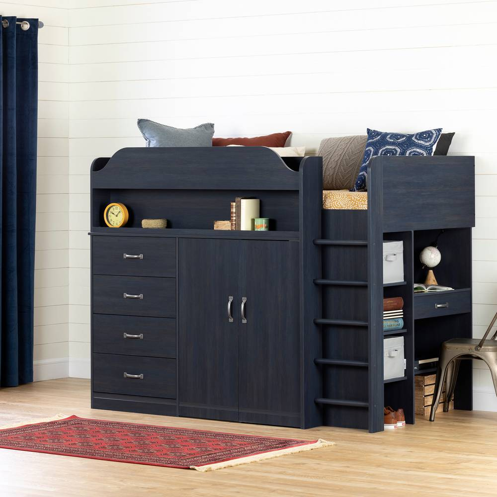 South Shore Asten Loft Bed with Desk  South Shore Furniture